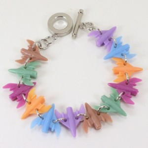 Star Fighter Ship Bracelet - Upcycled Game Pieces