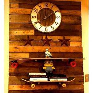 "Two Industrial Pipe Shelf Brackets 3/4"" X  8""   ""DIY"" Kit, Shelf Bracket , Shelf Mounts,"