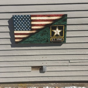 Split American Flag and US Army