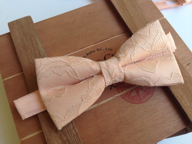 44ef481a7568 ... Dusted Peach Bow Tie - Wedding Bow Tie - Adult Bow Tie - Kid's Bow Tie