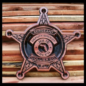 Wood Sign, customized Sheriffs Star