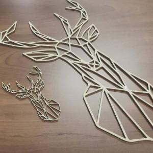 Geometric Deer Wall Art, Geometric Animal Wood, Home Decor, Living Room Decor, Animal Decor