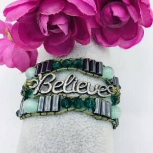 Believe Triple Wrap Bracelet