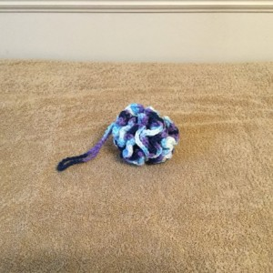 Crocheted cotton loofah