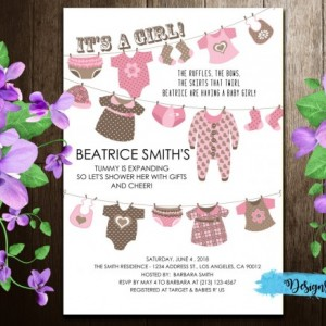Baby Laundry Baby Shower Printable Invitation