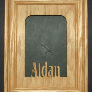 Personalized School Picture Frame with Custom Name 5x7