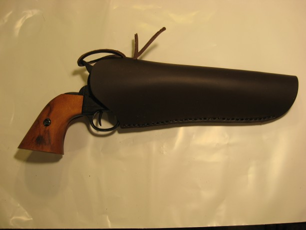 "OLD WEST CROSS DRAW WESTERN Leather Revolver Holster 4-1/2"" to 9-1/2"" Barrel"