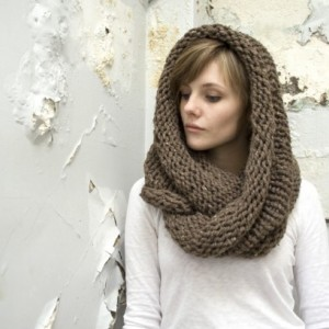 SALE - Infinity Scarf No. 1 - Wool Blend Circle Scarf - Circle Scarf - Chunky Scarf - Choose Your Color - Made to Order