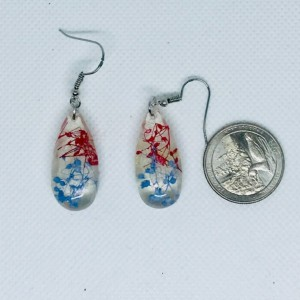 Patriotic earrings, fourth of July earrings,