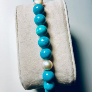 Exquisite, Gorgeous Turquoise/Pink Pearl Bracelet