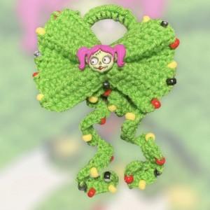 Green Bling Hair Bow