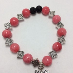 Essential oil Diffuser diamond Rose bracelet