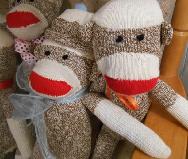 One Sock Monkey Classic Handmade Doll