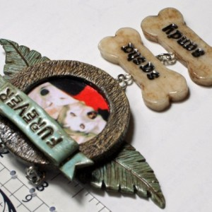 Personalized Pet / Baby Memorial Ornament - Christmas Engraved Sympathy Gift Angel Wings Heaven Passing Sentimental Polymer Clay