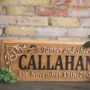 Custom Wedding Sign, Wood Wedding Sign, Carved Wood Sign, Couples Gift, Wedding Date Wood Sign, Distressed Sign, Decorative Sign, Love Story