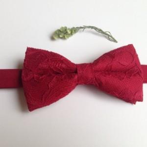 Burgundy Lace Bow Tie - Bourdeaux Bow Tie - Groom Bow Tie - Bridal Bow Tie - Baby Bow Tie - Adult Bow Tie - Pet Bow Tie - Groomsmen