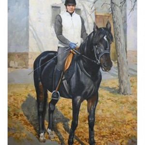 Horseman, by Bogdan Goloyad oil canvas 72x50 sm