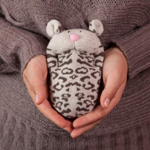 Sock Leopard Toy - Stuffed Animal Doll, Small Personalized Gift for Babies, Kids or Women, Soft and Handmade
