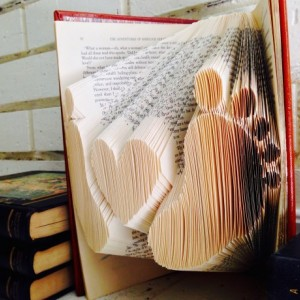 Baby Love Book Origami - Custom Baby Heart Book Art - Baby Gift