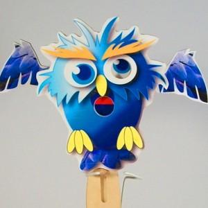 Wooden Puppet-  Owl