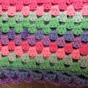 Baby/toddler girls rainbow sparkly blanket