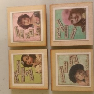 Sarcastic Vintage Ladies 2inx2in magnet. Set of 4