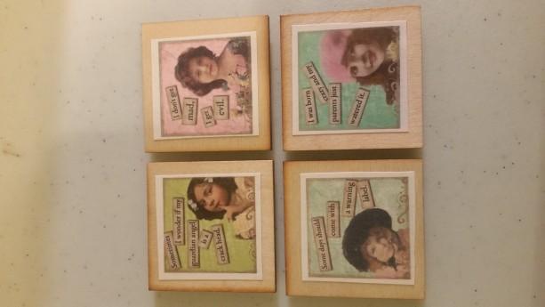 Sarcastic Vintage Ladies 2inx2in magnet. Set of 4