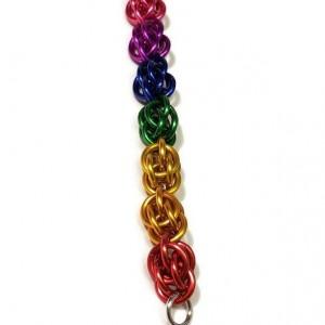 Rainbow Bracelet chainmaille sweet pea