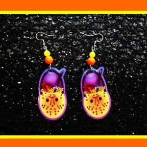Halloween Horror Movie Retro Classic Candy Pail Dangle Earrings