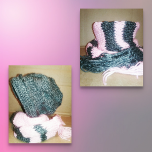 BABY KNITTED HAT AND SCARF SET