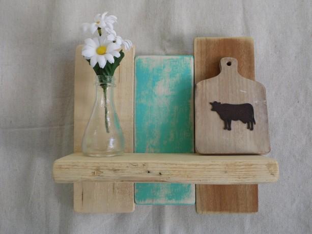 Teal Pallet Shelf, Teal Pallet Wood Shelves, Teal Rustic Decor, Teal Shelf, Rustic Home Decor