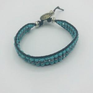 """7"""" Southwest Turquoise Wrap Bracelet"""