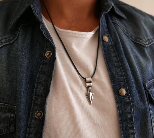 Men's Necklace - Men's Silver Necklace - Men's Vegan Necklace - Men's Jewelry - Men's Gift - Boyfriend Necklace - Guys Jewelry  - Guys Gift