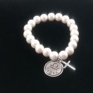 Soft Pink Libra Zodiac Bracelet