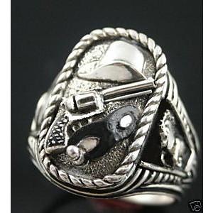 Lone ranger sterling silver ring