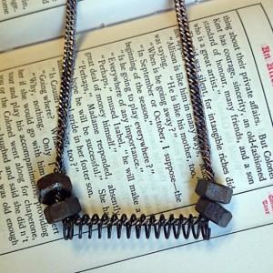 Hardware Necklace, Industrial Jewelry, Repurposed Hardware, Unisex Jewelry