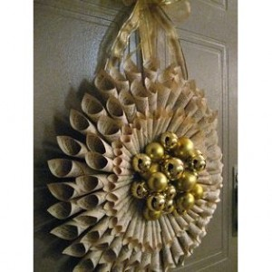 Holiday Rolled Paper Wreath