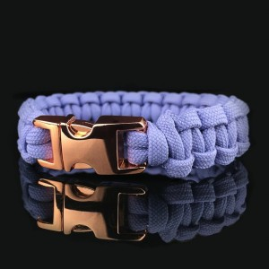 Lavender Designer Unisex Braided Survival Mil-Spec Type III 550 Parachute Cord with Full Metal Alloy Quick Detach Buckle (Rose Gold)