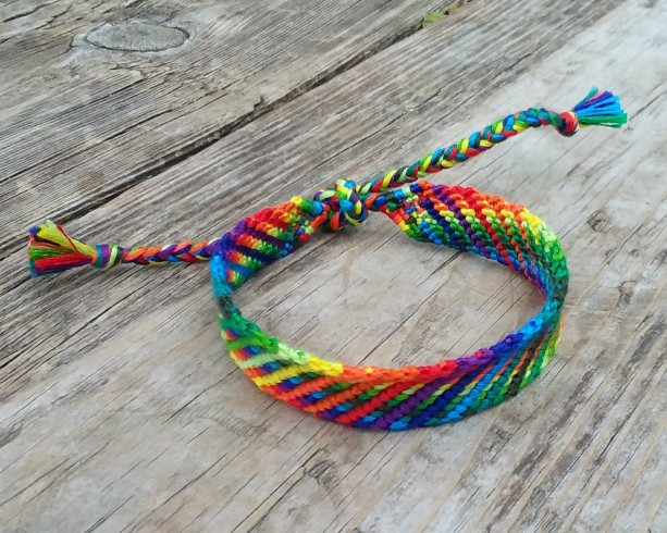 Rainbow Candy Handmade Friendship Bracelet
