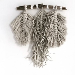 Macrame & Leather Bohemian Wall Hanging
