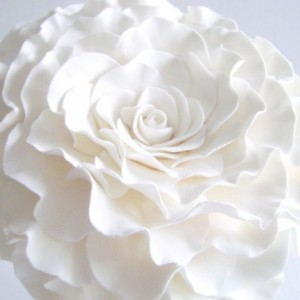 Single Flower Bouquet Glamelia Bouquet white Rose Bridal Bouquet Bridesmaids Flower