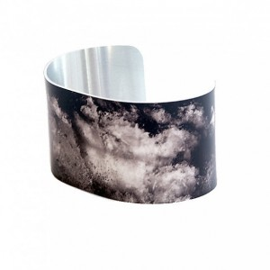 Photo cuff bracelet, aluminum, Surging Sea Swell