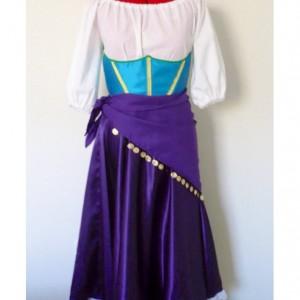 Esmeralda Gypsy Custom-Made Women's 4 Piece Costume Sizes 4-10