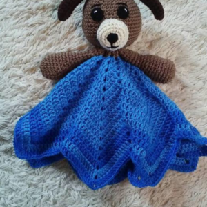 Puppy Lovey Baby Blanket, Baby Blanket, Comfort Blanket, Lovey Blanket, Security Blanket, Baby Shower Gift
