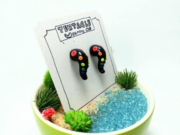 Rainbow Tentacle Earrings