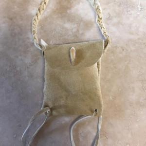 Turtle claw medicine bag Native American made