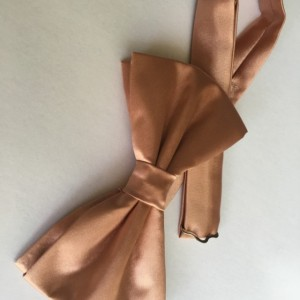 Rose Gold Bow Tie Triple Fold - Rose Bow Tie - Gold Bow Tie - Groom Bow Tie - Pink Bow Tie - Adult Bow Tie - Baby Bow Tie - Wedding