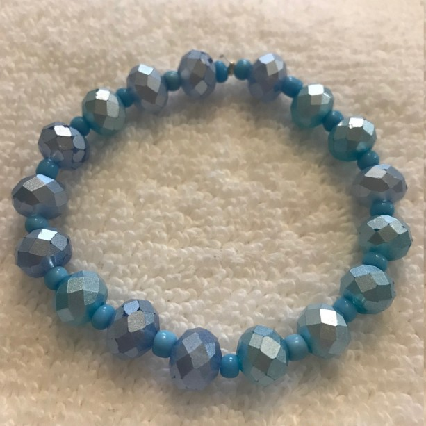 Peruvian Sky handmade beaded bracelet