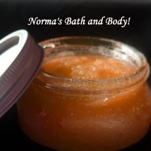 pumpkin pie exfoliating  sugar body scrub