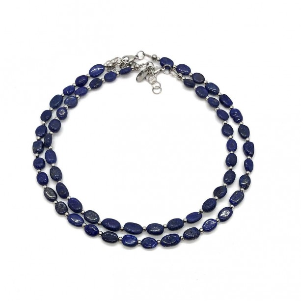 Lapis Lazuli Necklace in Stainless Steel